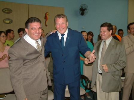 Max Solbrekken World Mission crusades, Argentina crusades, Pastor Solbrekken with many pastors