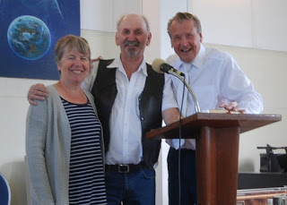 Victor & Gloria Temple with Pastor Max Solbrekken at The House of Prayer Gospel Church, south of New Sarepta, AB - Hear Victor Temple's testimony - I was set from from demons, 47 years ago in Newfoundland