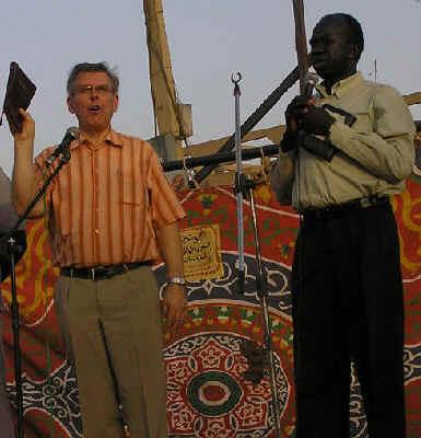 Pentecostal movement in Sudan, Darfur, Jan Ernst Gabrielsen distributes Bibles