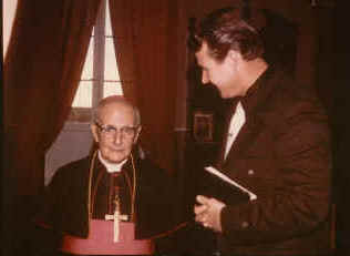 """The situation seemed hopeless, but God sent His servant Max Solbrekken to the Archbishop of the Roman Catholic Chruch, His Grace, Monsignor Michael Gonzi, for a personal audience, which resulted in His Grace """"The Archbishop"""" wishing Rev. Solbrekken all the best of success for his mission of preaching Jesus Christ to Malta."""